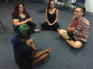 A prayer circle